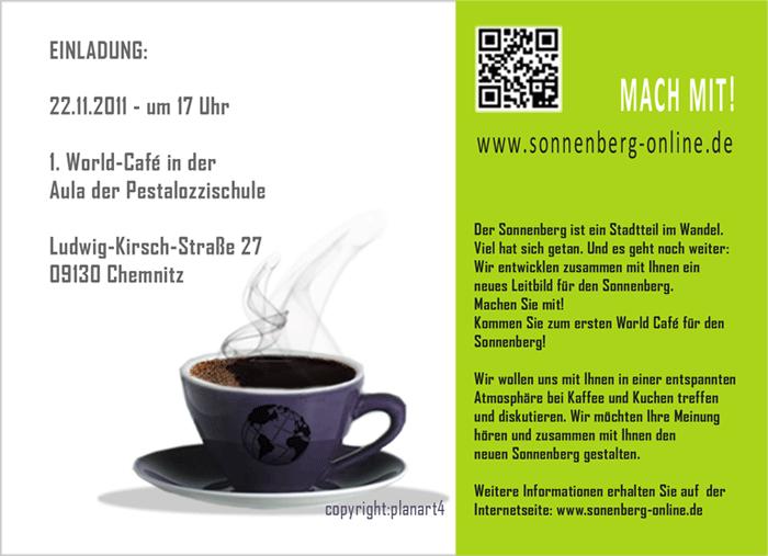 chemnitz sonnenberg | einladung zum world café am 22.11.2011, Einladung