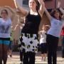 Olivia Thiele beim Flashmob a.d. Sonnenberg