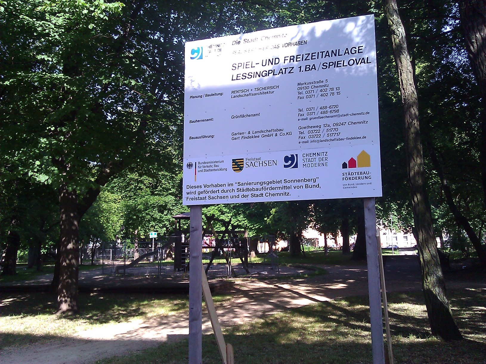 Garten Und Landschaftsbau Chemnitz chemnitz sonnenberg auf dem spielplatz wird gebaut