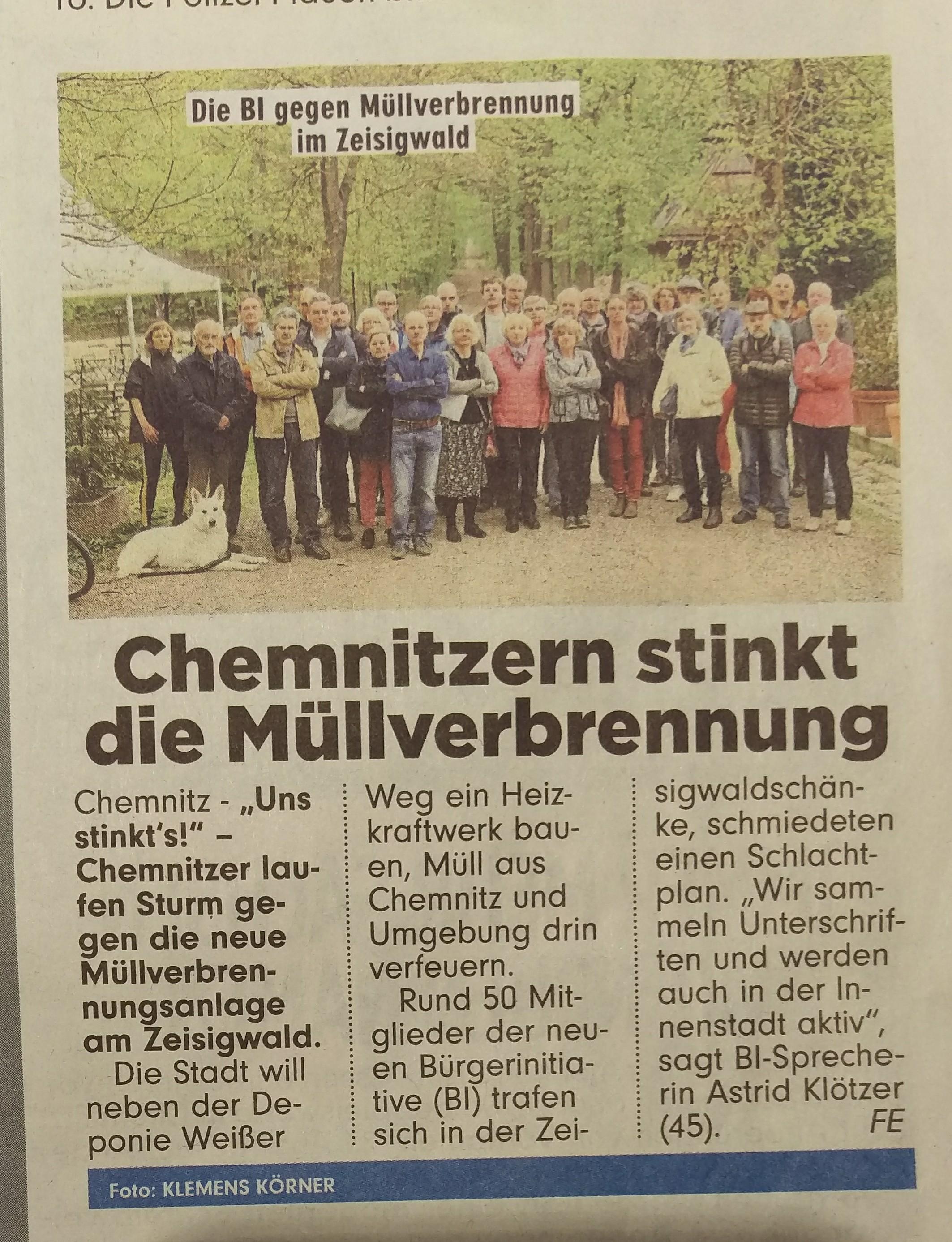 Chemnitz Sonnenberg | Müllverbrennung? Schützt den Zeisigwald!
