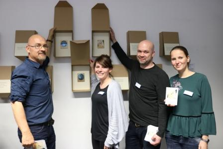 Mitarbeiter der Kontaktstelle Jugendsucht- und Drogenberatung. Von links nach rechts: Andreas Rothe, Denise Merkel, Marco Dobeck, Josephine Seidel