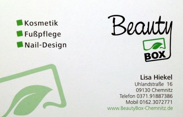 Chemnitz Sonnenberg Beautybox Visitenkarte
