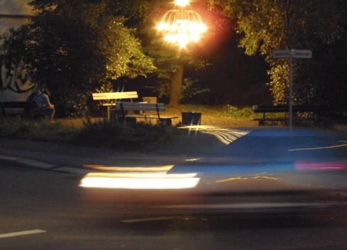 """Kronleuchter am """"Kranzplatz"""", wie die Ecke an der Zietenstraße genannt worden war"""