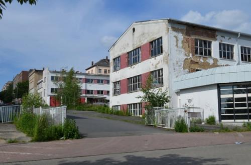 Vor Abbruch der Restgebäude