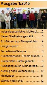 Stadtteilzeitung 2016-1 Inhalt