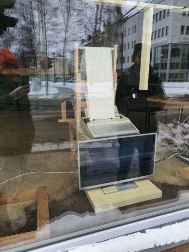 Maschine im Fenster