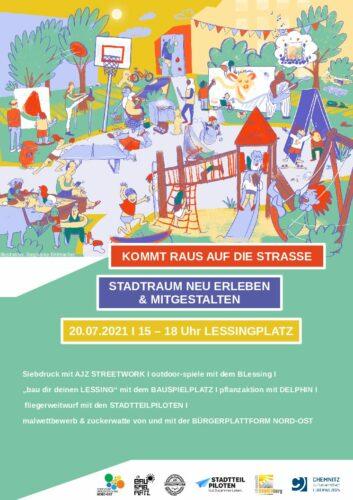 Fest STADTRAUM NEU ERLEBEN & MITGESTALTEN @ Lessingplatz
